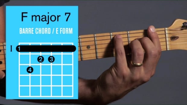 ZZZZZH. How to Play an F Major 7 Barre Chord on Guitar Promo Image