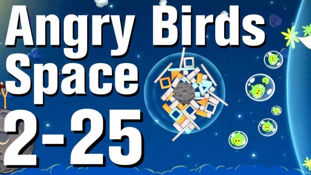 ZZC. Angry Birds: Space Walkthrough Level 2-25 Promo Image