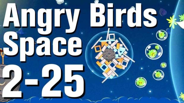 ZZC. Angry Birds: Space Walkthrough Level 2-25 Promo Image
