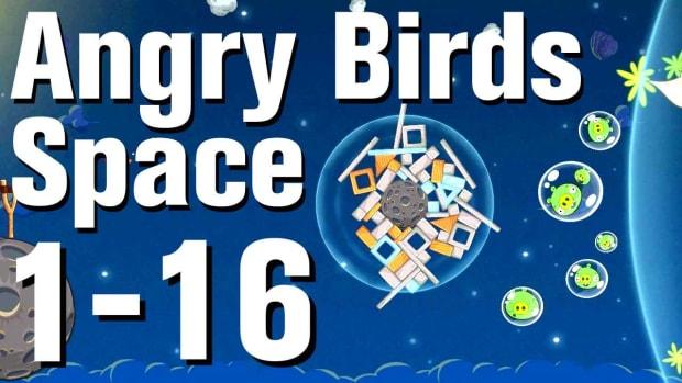 P. Angry Birds: Space Walkthrough Level 1-16 Promo Image