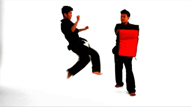 Q. How to Do a Tornado Roundhouse Kick in Taekwondo Promo Image