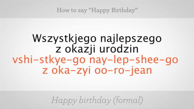 "K. How to Say ""Happy Birthday"" in Polish Promo Image"