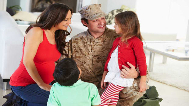 D. How to Help the Family Adjust to a Military Spouse's Return Promo Image