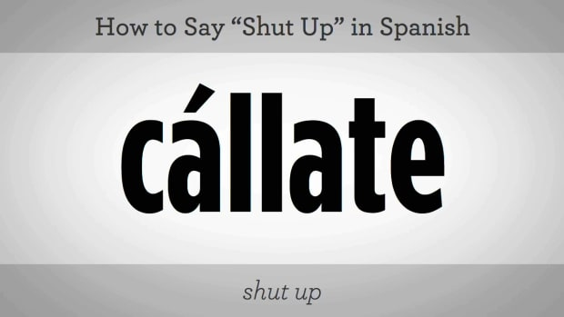 "E. How to Say ""Shut Up"" in Spanish Promo Image"