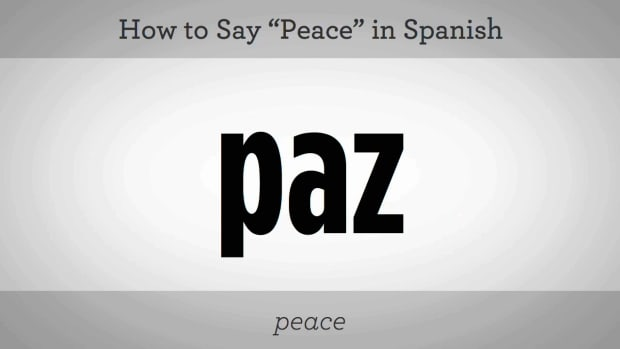 "Z. How to Say ""Peace"" in Spanish Promo Image"