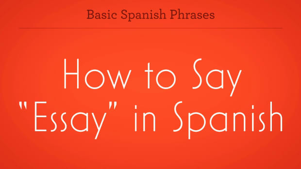 "ZV. How to Say ""Essay"" in Spanish Promo Image"