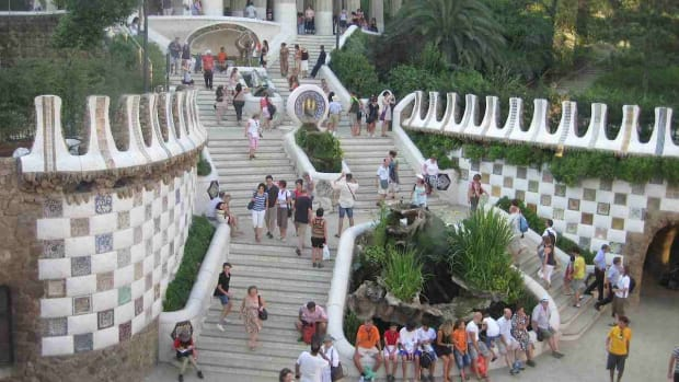H. Visiting Park Guell in Barcelona Promo Image