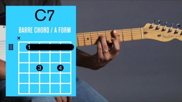 ZZZZE. How to Play a C7 Barre Chord on Guitar Promo Image