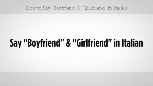 "ZI. How to Say ""Boyfriend"" & ""Girlfriend"" in Italian Promo Image"