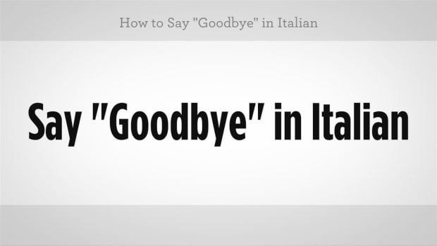 "C. How to Say ""Goodbye"" in Italian Promo Image"
