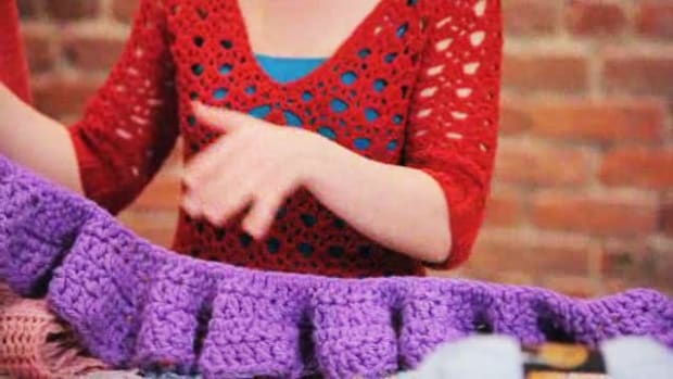 K. How to Crochet a Scarf Promo Image