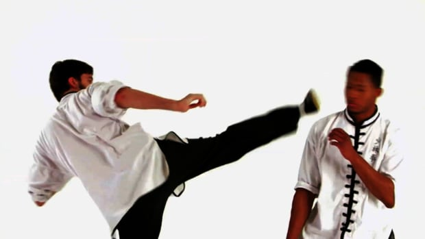 ZZH. How to Do the Dragon's Tail Kick in Shaolin Kung Fu Promo Image
