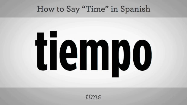 "Y. How to Say ""Time"" in Spanish Promo Image"