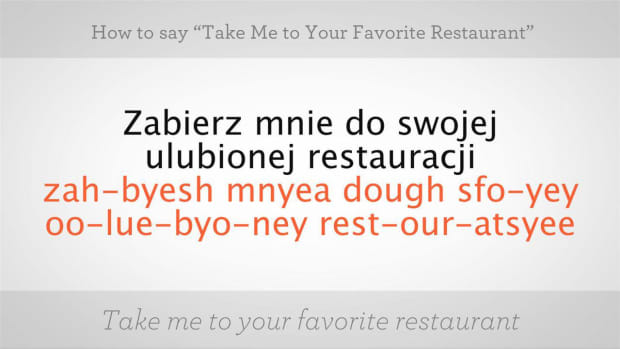 "ZZA. How to Say ""Take Me to Your Favorite Restaurant"" in Polish Promo Image"