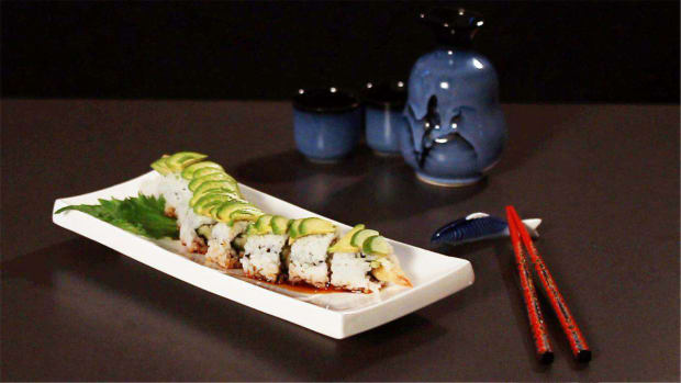 P. How to Make a Dragon Roll aka a Caterpillar Roll Promo Image