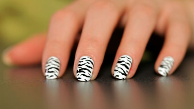 D. How to Do a Zebra Nail Art Design Promo Image