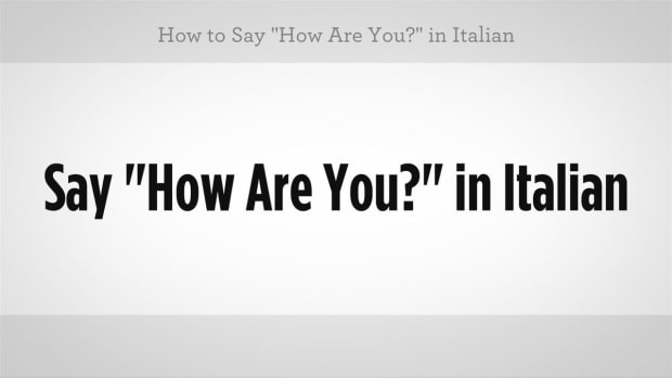"X. How to Say ""How Are You"" in Italian Promo Image"