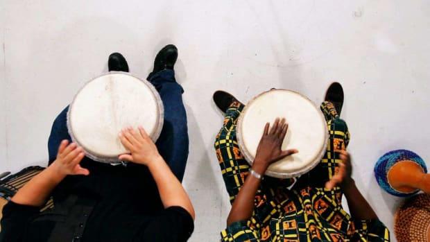 O. How to Play the Djembe Kuku Rhythms Combined Promo Image