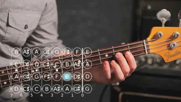 ZZZO. How to Play an A Minor Triad on Bass Guitar Promo Image