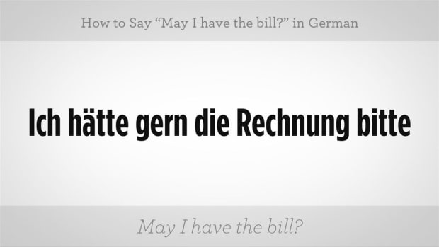 "ZZZG. How to Say ""May I Have the Bill?"" in German Promo Image"