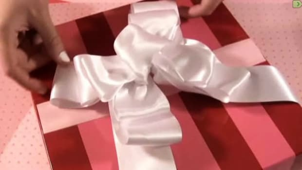 B. How to Make a Bow Using Double Face Wired Ribbon Promo Image