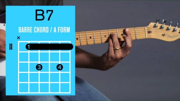 ZZZZC. How to Play a B7 Barre Chord on Guitar Promo Image