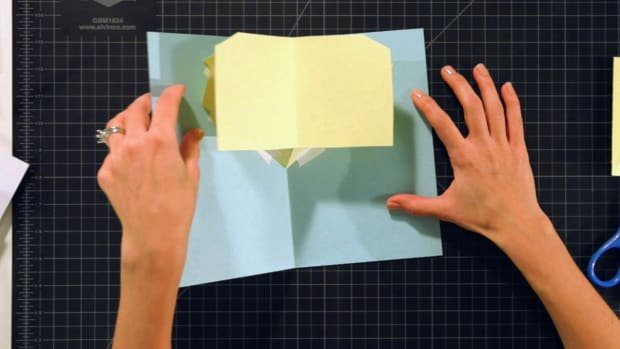 K. How to Make a V-Fold Lifter for a Pop-Up Card Promo Image