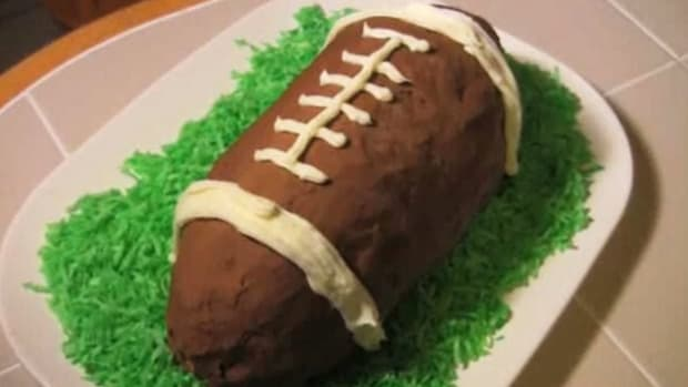 F. How to Make Football Ice Cream Cake Promo Image
