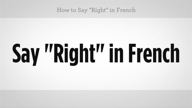 "ZZL. How to Say ""Right"" in French Promo Image"