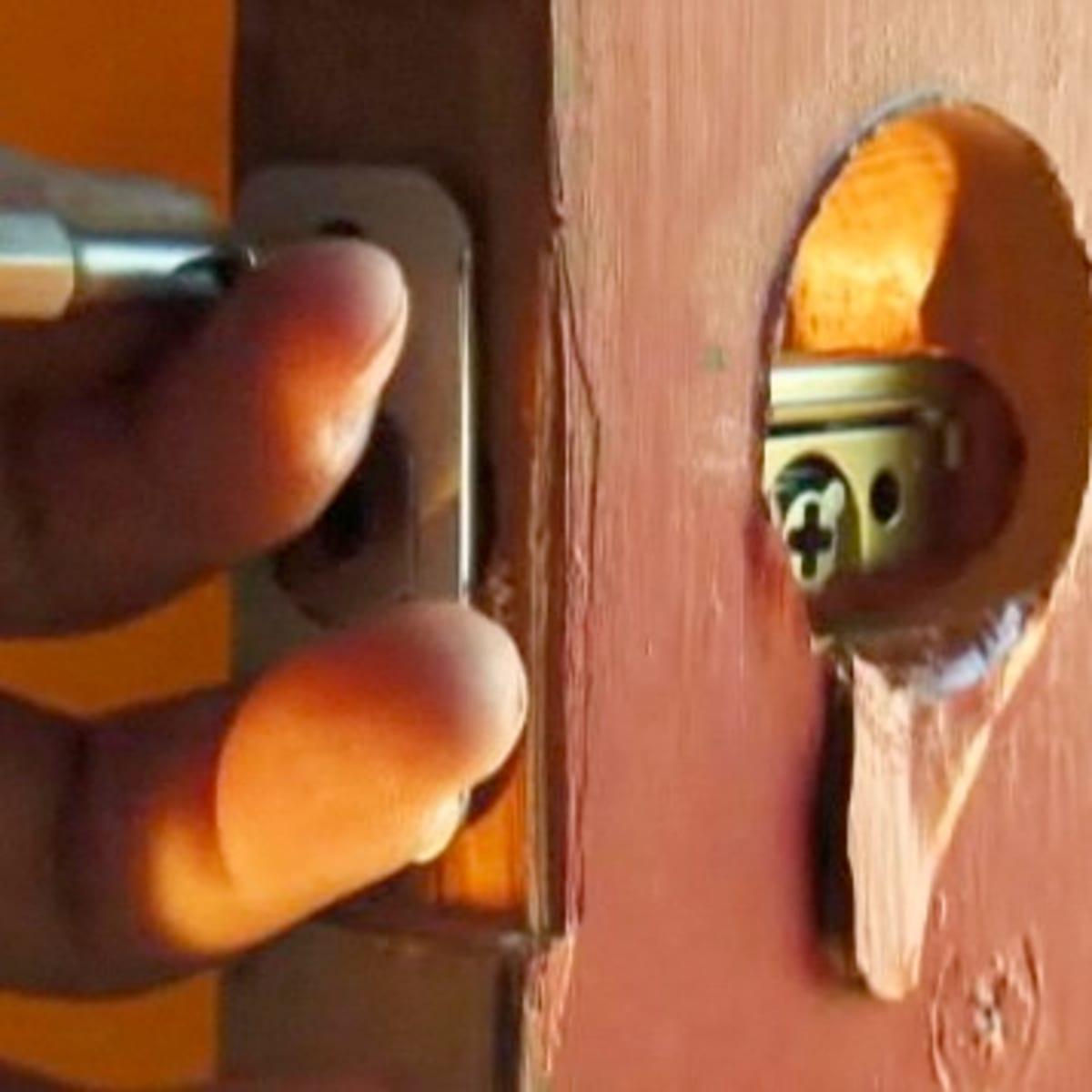 How To Install A Single Cylinder Deadbolt Lock Howcast