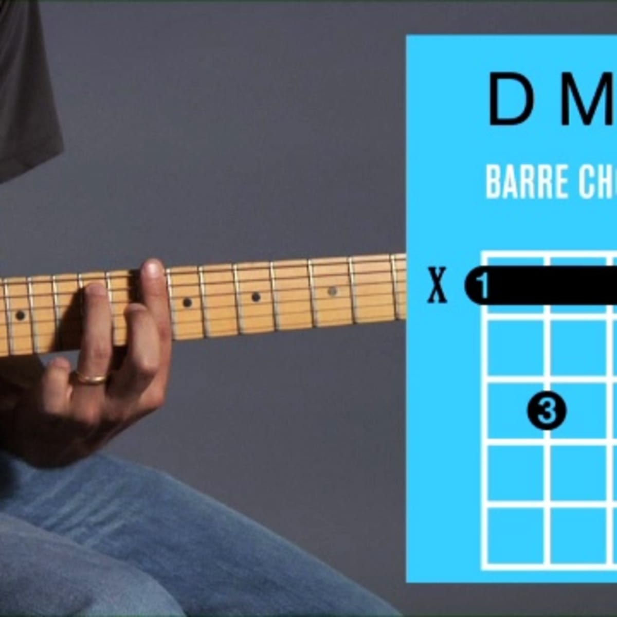 How to Play a D Minor 15 Barre Chord on Guitar   Howcast