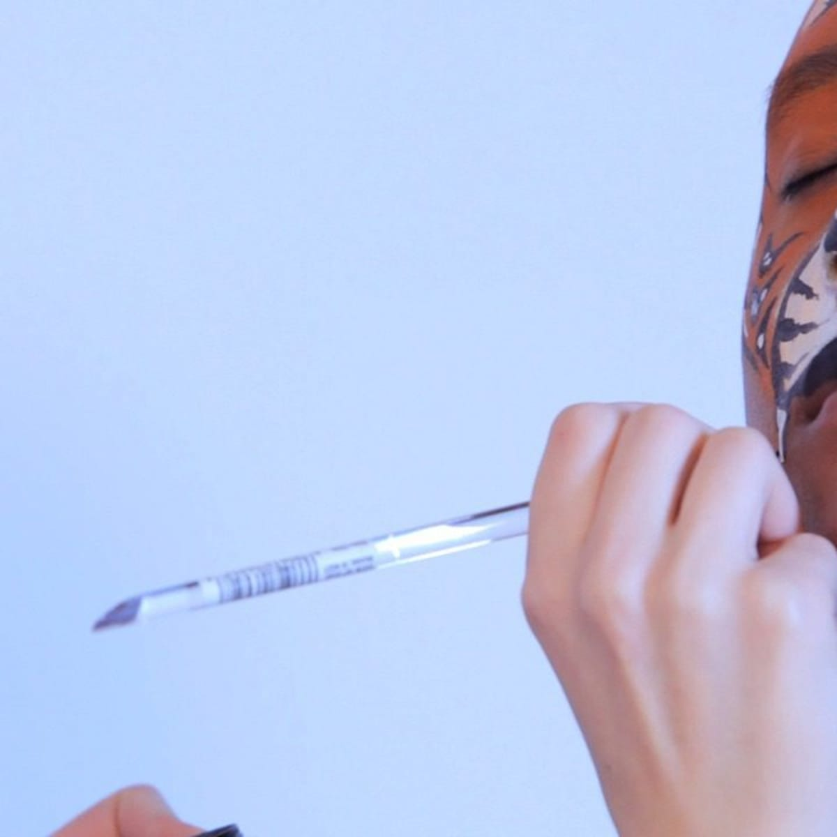 How To Paint A Tiger Face With Face Paint Howcast