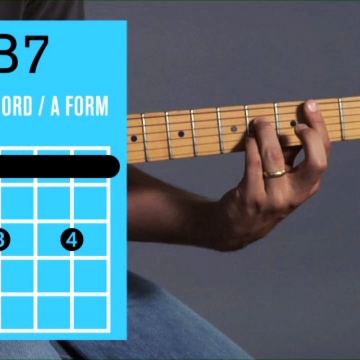 How to Play a B15 Barre Chord on Guitar   Howcast