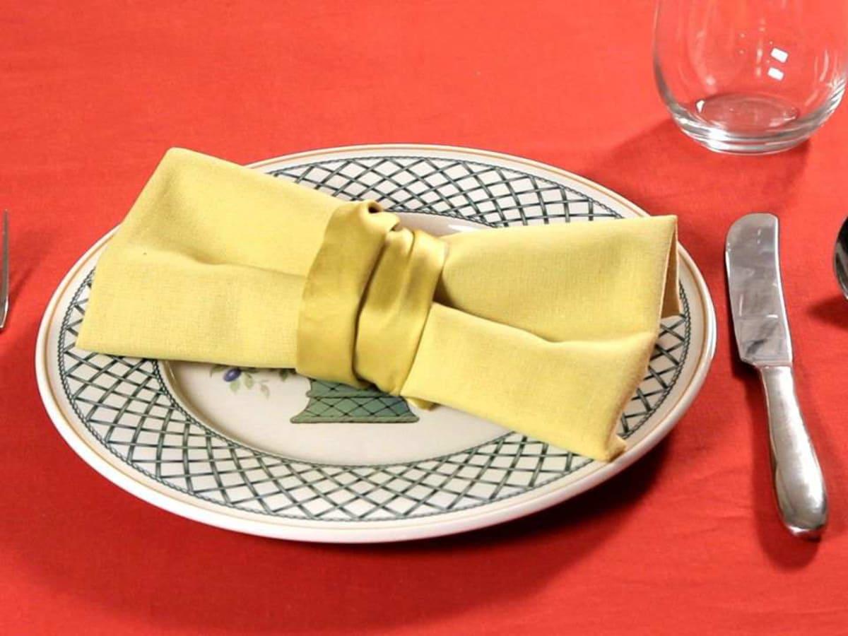 How To Fold A Napkin Into A Bow Tie Howcast