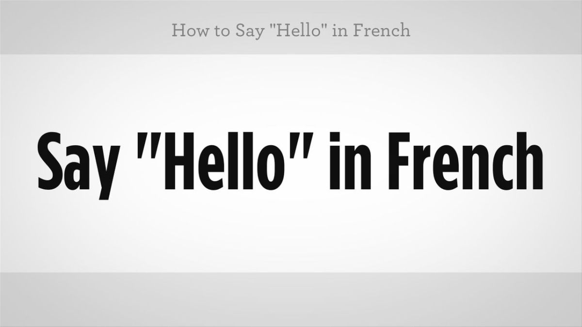 Armoured Vehicles Latin America ⁓ These How To Say Hello In French