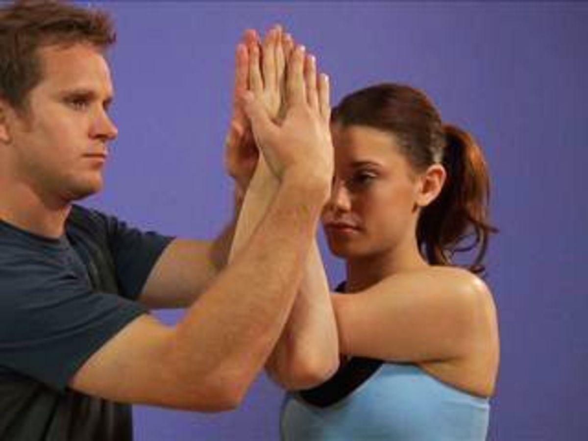 3d60baefe6285 How to Do the Eagle Pose - Howcast | The best how-to videos