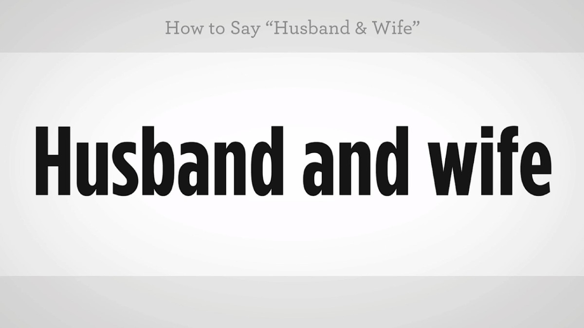 How To Say Husband Wife In Mandarin Chinese Howcast The