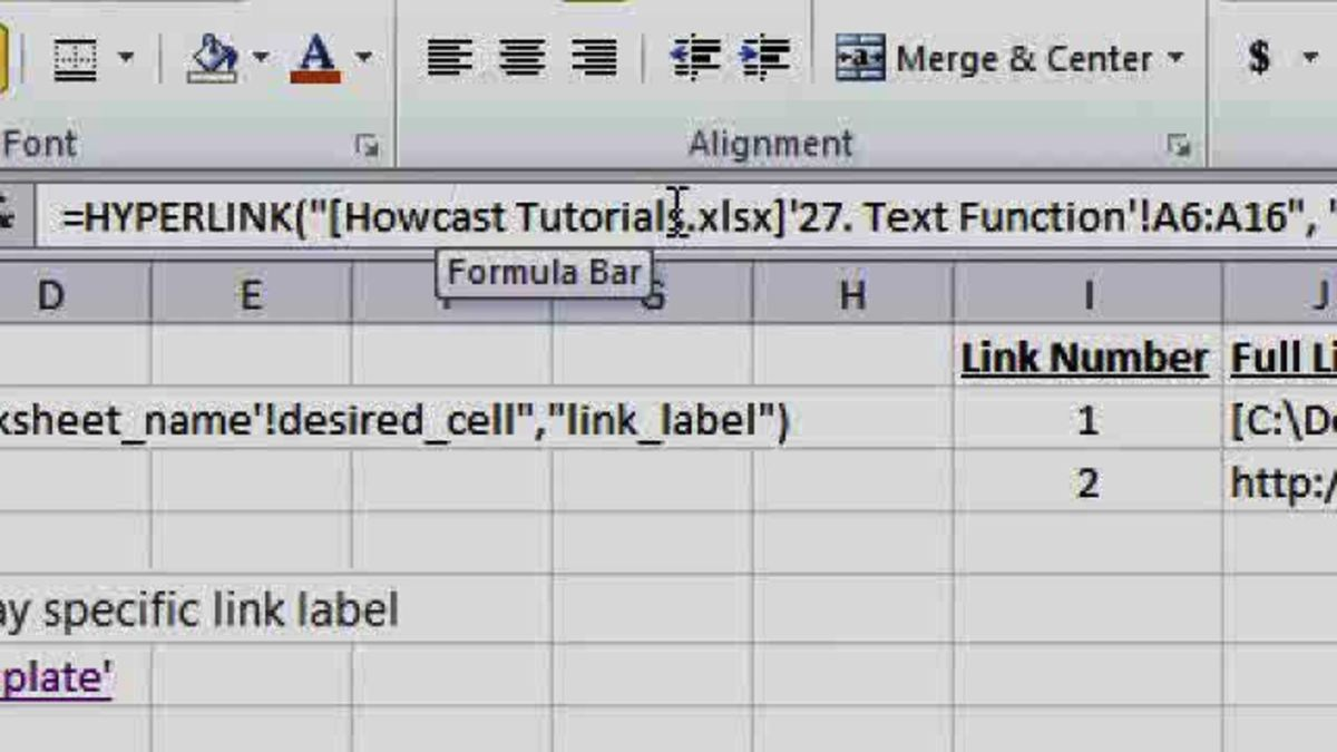 What Is the Hyperlink Function in Excel? - Howcast | The
