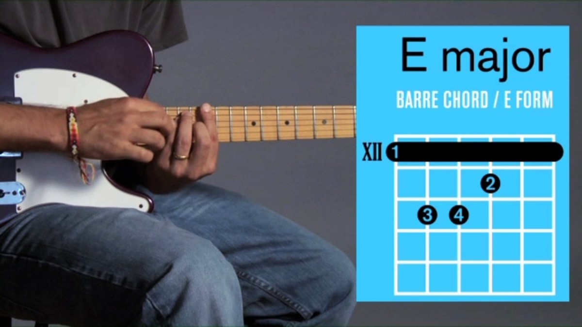 How To Play Barre Chords In E Major On A Guitar