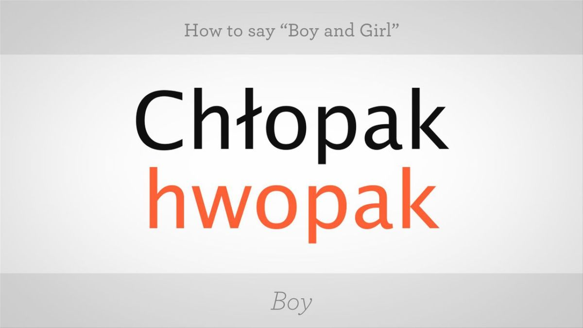 how to say girl in polish