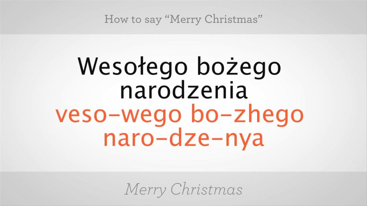 How To Spell Merry Christmas.How To Say Merry Christmas In Polish Howcast The Best