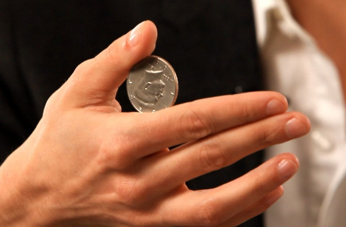 фокусы с монеткой картинками новые лоты