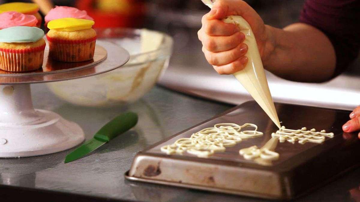 How to Make White Chocolate Cake Decorations - Howcast