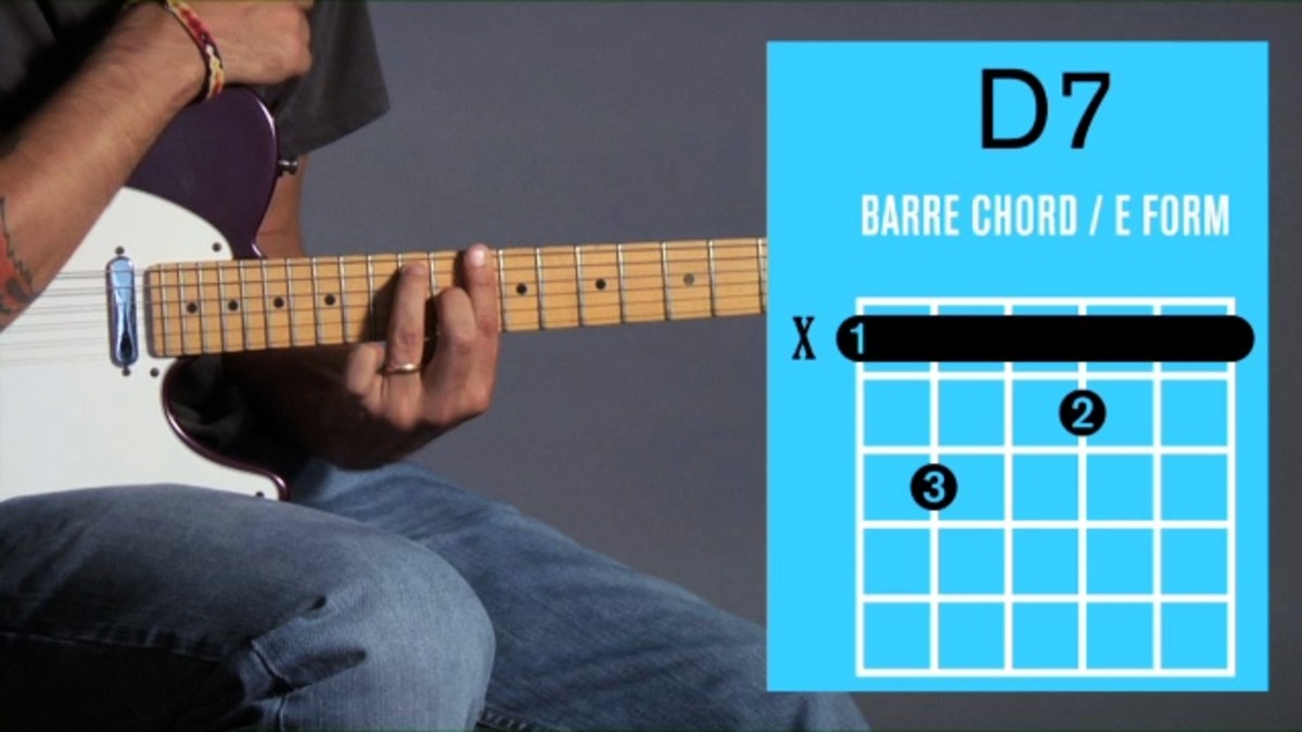 How To Play A D7 Barre Chord On Guitar