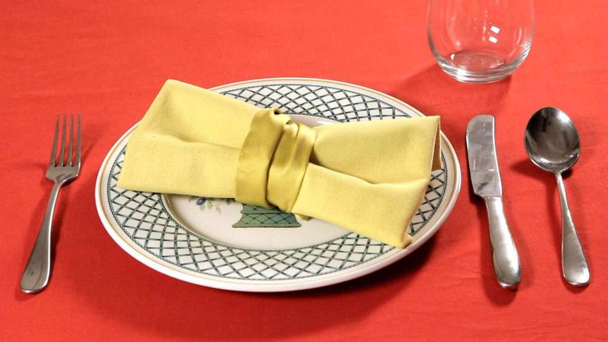 how to fold a napkin into a bow tie howcast the best how to videos