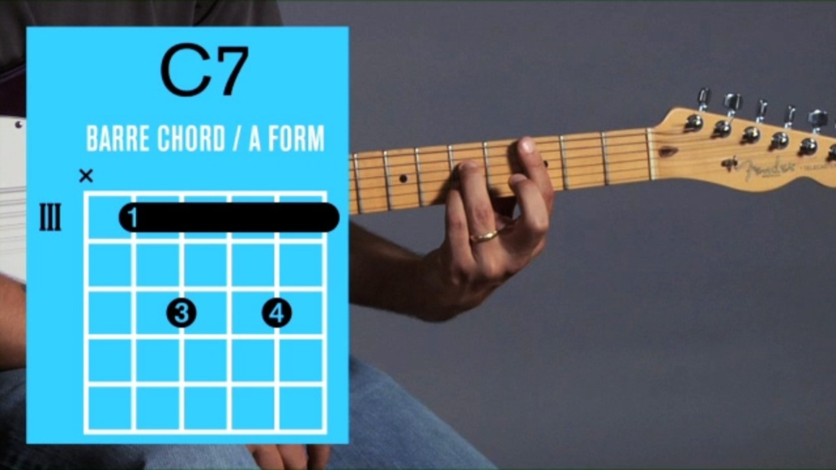 How to Play a C15 Barre Chord on Guitar   Howcast