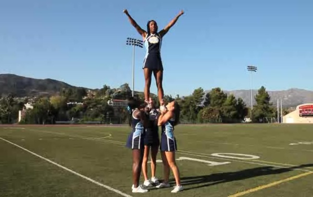 How To Do An Extension Prep Into A Cradle In Cheerleading